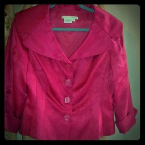 Maggy London size 10 women's 100% silk jacket